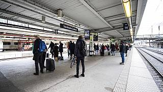 Archivaufnahme eines Stockholmer Bahnhofs