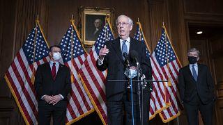 McConnell vor einer Woche im Senat: Glückwunsche gab es damals noch nicht.