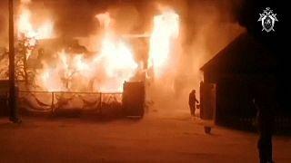 Пожар в доме престарелых  в башкирском селе Ишбулдино