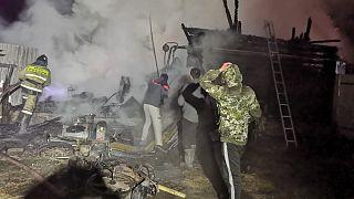 حريق روسيا