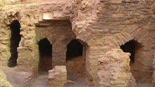 Römische Ruinen in Amman.