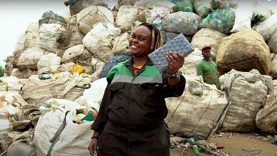 Kenyan women turn plastic waste into bricks stronger than concrete