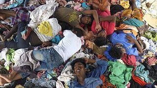 أحد مخيمات اللاجئين الروهينغا