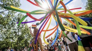 من مسيرة للمثليين في بودابست/2 يوليو ، 2016