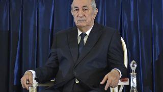 الرئيس الجزائري، عبد المجيد تبون في الجزائر.