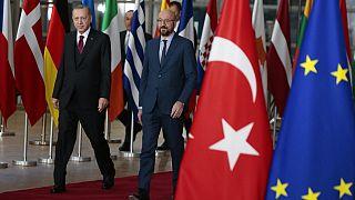 Cumhurbaşkanı Recep Tayyip Erdoğan, Avrupa Birliği Konseyi Başkanı Charles Michel (arşiv)