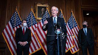 ميتش ماكونيل زعيم الجمهوريين بمجلس الشيوخ الأمريكي