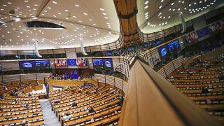 Az Európai Parlament ülésterme Brüsszelben