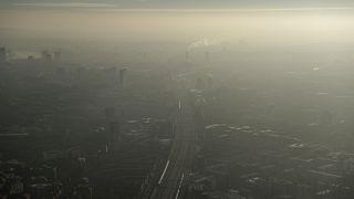 Pollution de l'air sur le sud-est de Londres le 19 janvier 2017.