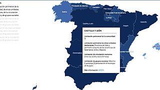 Al pasar por las regiones se muestra la información para las diferentes regiones.