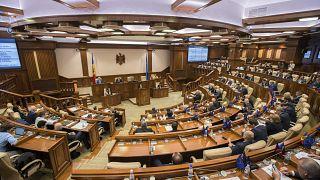 Зал заседаний Парламента Молдавии 12 ноября 2019