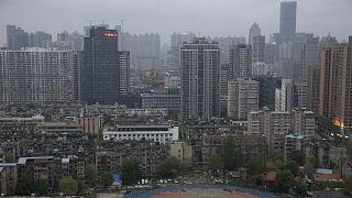 Koronavirüsün çıkış noktası olan Çin'in Vuhan kentinden genel bir görünüm