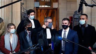 Foto tomada durante el juicio del ataque al tren Thalys en la Corte de París, el 20 de noviembre de 2020.