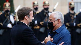 Primeiro-ministro de Portugal almoçou com o Presidente de França esta quarta-feira