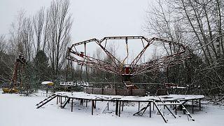 Elhagyatott játszótér alig 3 kilométerre a csernobili erőműtől