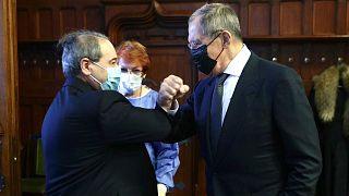 دیدار وزیر خارجه روسیه و سوریه