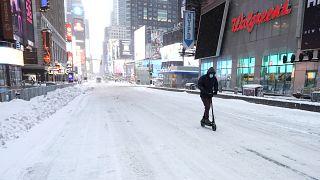 ثلوج في نيويورك