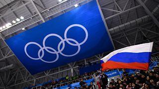 Archives : le drapeau de la Russie lors des JO de Pékin de 2018