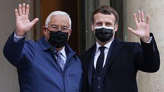 Le président français et le Premier ministre portugais Antonio Costa mercredi à l'Elysée pour un déjeuner de travail