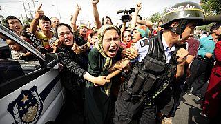 Uygur Türkleri protesto (Arşiv 2009)