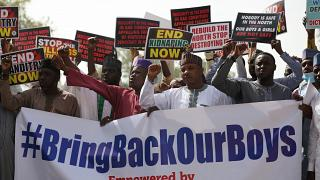Protest in Nigeria over gov't's handling of kidnapping crisis