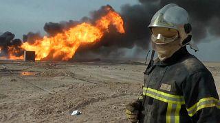 حریق در یکی از چاههای میدان نفتی «خباز» در شمال عراق مهار شد