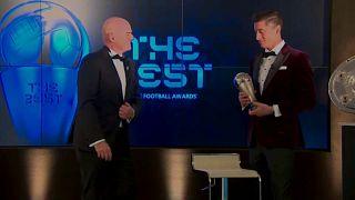 Роберт Левандовский на вручении премии ФИФА