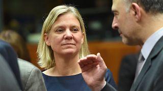 وزيرة المالية السويدية ماجدالينا أندرسون.