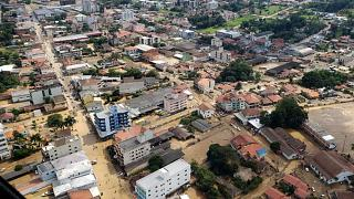 Imagem aérea das inundações no Estado de Santa Catarina