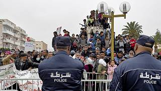 صورة أرشيفية لمظاهرة في تونس