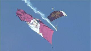 قطر عرض طيران وعسكري