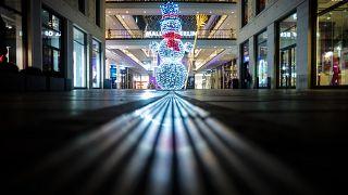 Dans un centre commercial allemand, vide, le 16/12/2020
