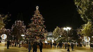 Virus Outbreak Greece Christmas