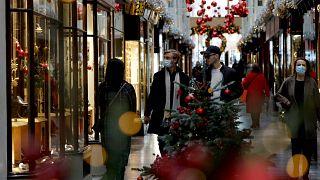 Улицы Лондона накануне Рождества