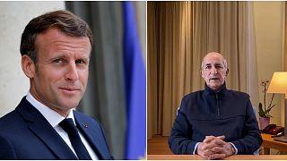 الرئيس الجزائري عبد المجيد تبون والرئيس الفرنسي إيمانويل ماكرون