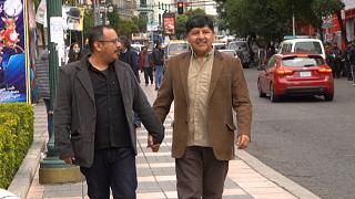 Bolivia's first legally-recognised same-sex couple