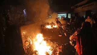 خلال احتجاجات اليوم في بيروت