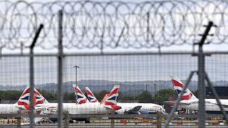 Archive : aéroport de Gatwik (Londres, Angleterre), le 01/05/2020