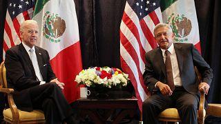 Meksika Devlet Başkanı Andres Manuel Lopez Obrador // ABD'de başkanlığa seçilen Joe Biden (arşiv)