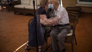 El 22 de junio en una residencia para mayores de España.