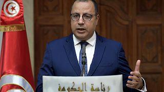 مؤتمر صحفي لرئيس الوزراء التونسي هشام المشيشي، 3 نوفمبر 2020
