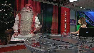 Rosie Wright, Euronews, entrevista a Papá Noel