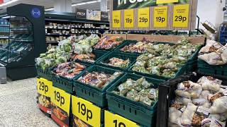 A UK supermarket on Monday: there are fears that fresh supplies could dwindle
