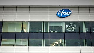 A Pfizer irodája Belgiumban