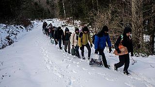 پناهجویان در حال گریز از بوسنی