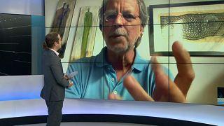 Mia Couto na entrevista à Euronews