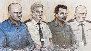 Gheorghe Nica (sol) and Eamonn Harrison (sağ) cinayetten suçlu bulundu