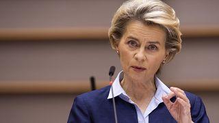 Brüsszel, 2020. december 16. - Ursula von der Leyen, az Európai Bizottság elnöke