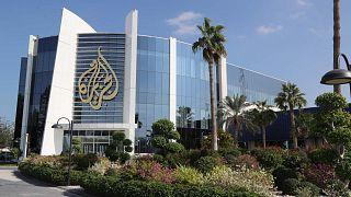صورة تم التقاطها في 5 ديسمبر 2019، تظهر صورة عامة لمقر شبكة الجزيرة الإعلامية في العاصمة القطرية الدوحة.