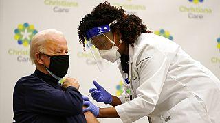 Biden Covid-19 aşısı vuruldu